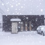 下準備。雪道運転。